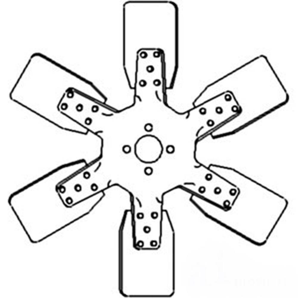 84355C1 6 Blade Fan For Case-IH Tractor Models 574 674 784 2500A +