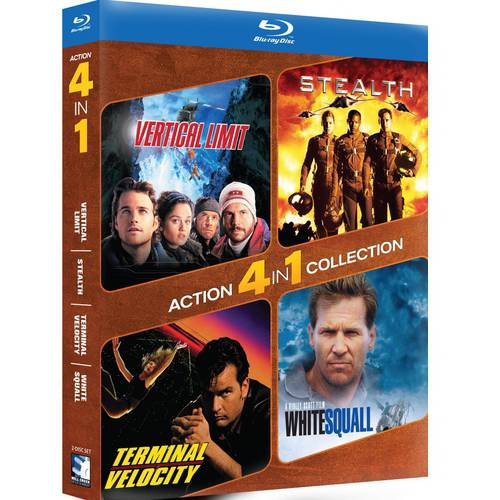 Action 4-In1 Collection: Vertical Limit / Stealth / Terminal Velocity / White Squall (Blu-ray)