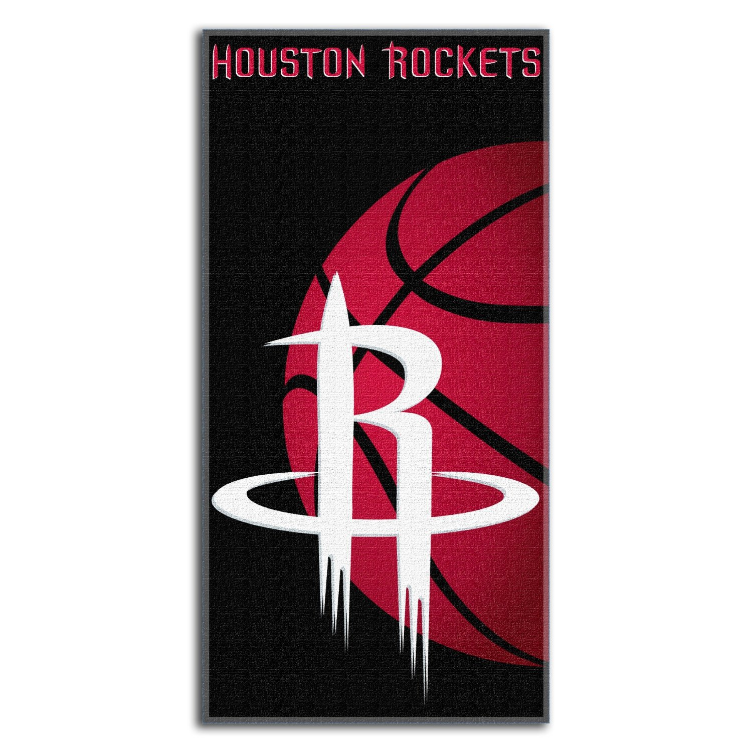 Houston Rockets NBA 30x60 Fiber Reactive Cotton Beach Towel