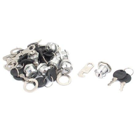 Mailbox Cabinets Drawer Locker 18mm Thread Security Metal Head Cam Lock Keys 8pcs - image 2 of 2