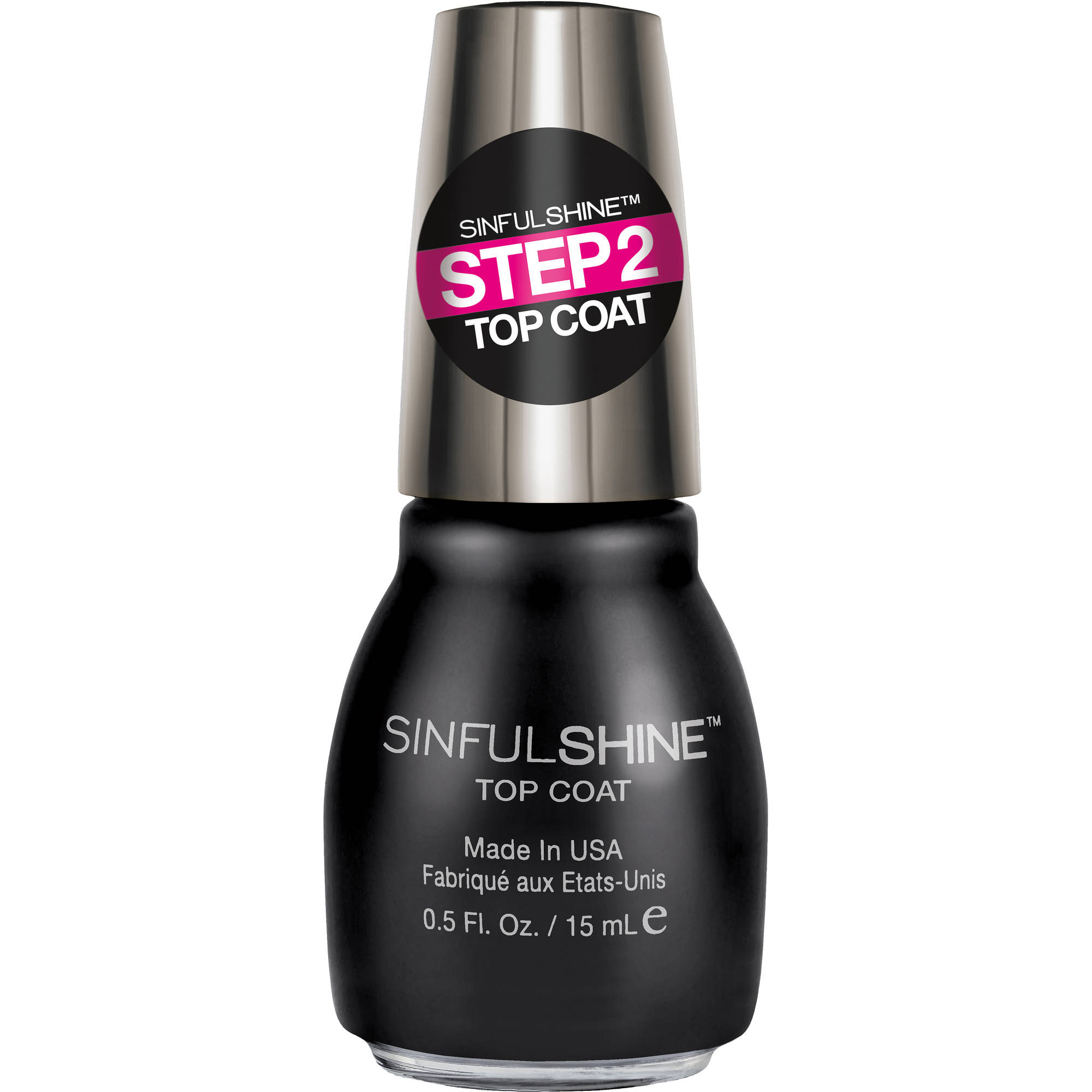 SinfulColors SinfulShine Step 2 Top Coat Nail Color, 0.5 fl oz ...
