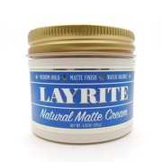 Layrite Natural Matte Hair Cream for Men, 4.25 Oz