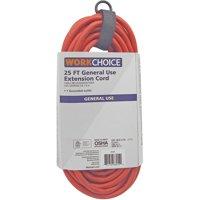WorkChoice 16/3 Orange Cord, 25'