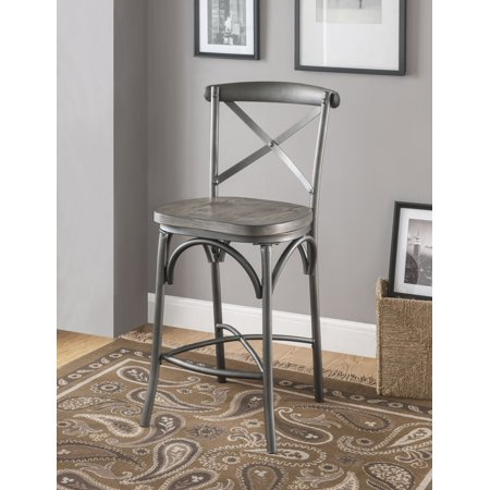 ACME Kaelyn II Counter Height Chair, Set of 2 in Gray ()