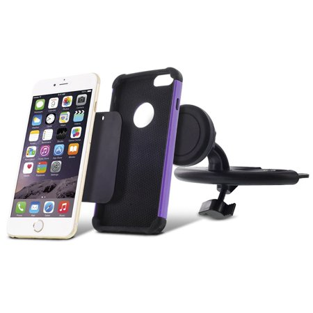 Insten 360 Degree Rotatable Joint Premium Universal CD Slot Magnetic Car Mount Cell Phone Holder - Black - image 2 of 7