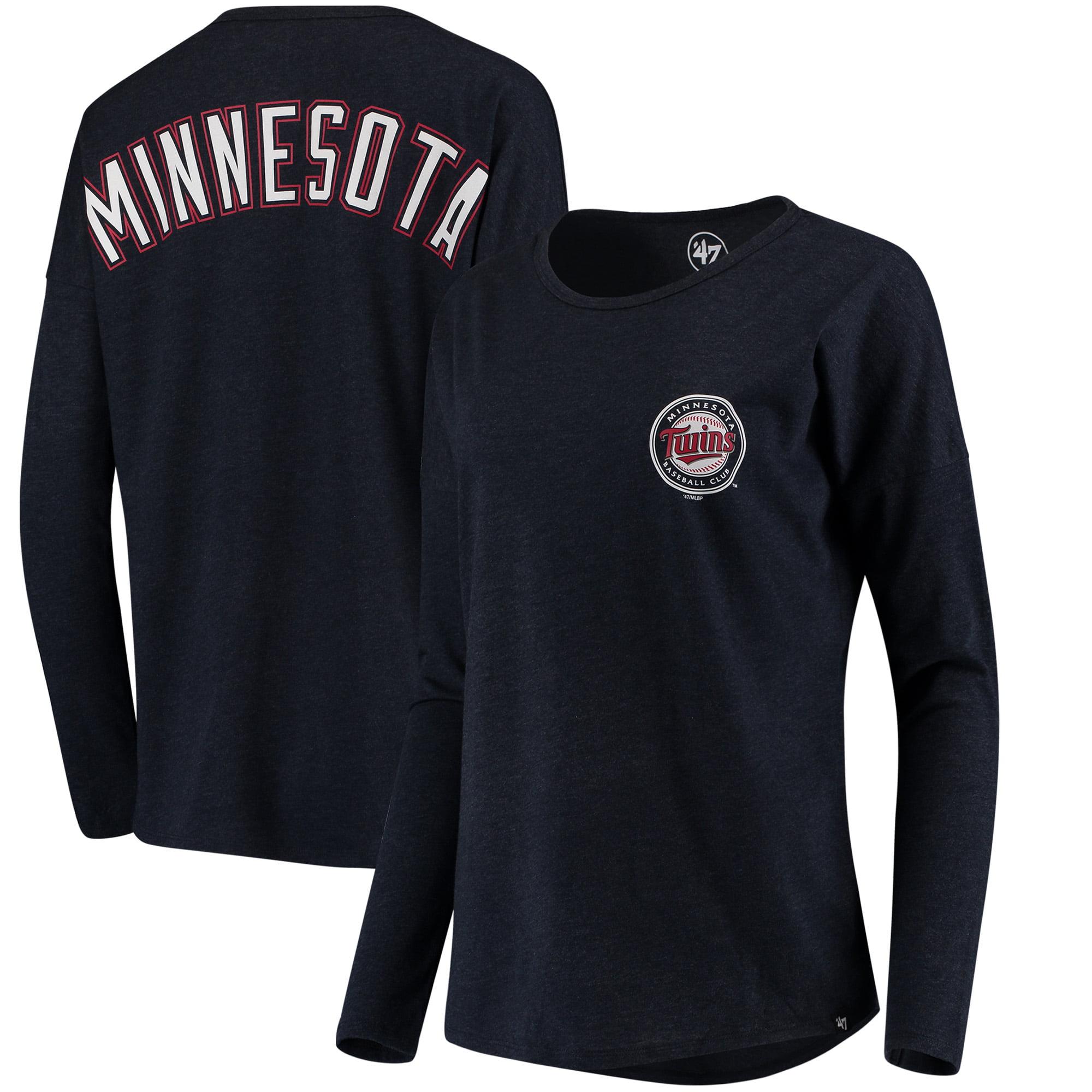 Minnesota Twins '47 Women's Courtside Long Sleeve T-Shirt - Navy
