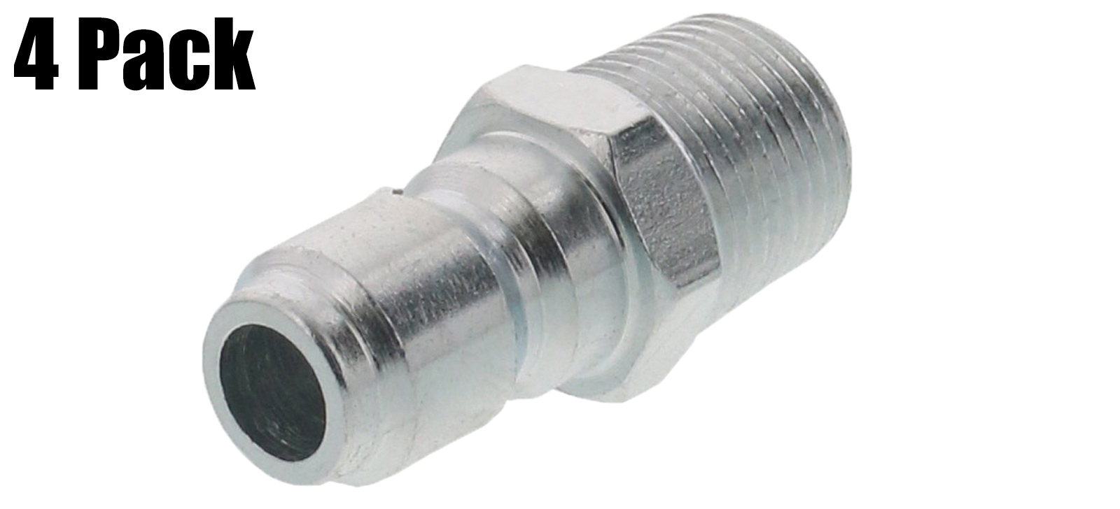 """General Pump Pressure Washer 3 8"""" Male NPT-M Quick Connect Plug 4000 PSI (QTY 4) by General Pump"""