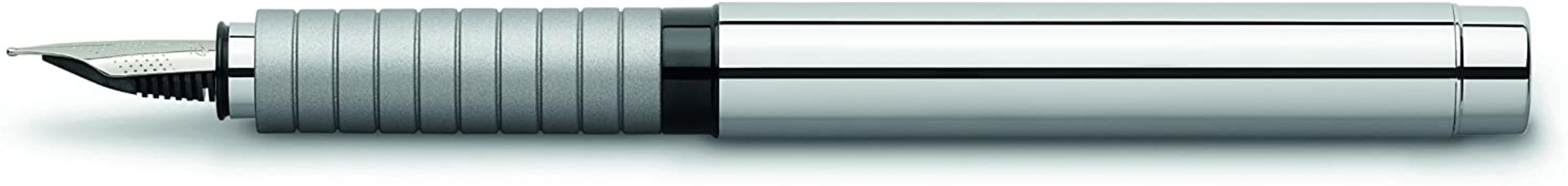 Faber-Castell Basic Metal Fountain Pen Medium Silver Cap