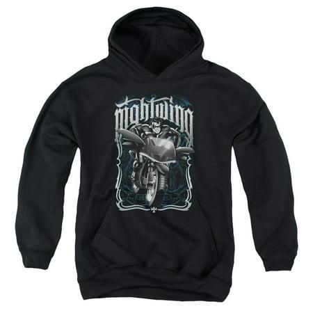 Batman - Nightwing Biker - Youth Hooded Sweatshirt - Small