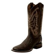 Lucchese Western Boots Mens Hornback Caiman Goat Cigar M4539