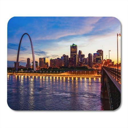 KDAGR St Louis Missouri Cityscape Skyline and Gateway Arch As Mousepad Mouse Pad Mouse Mat 9x10 inch (Gateway Arch Patch)