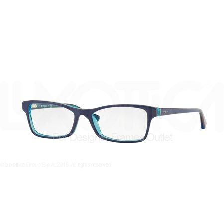 VOGUE Eyeglasses VO2886 2278 Blue Orange Azure Transparent (Vogue Eyewear For Women)