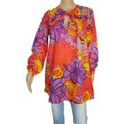 Womens 'Sunflo' Long Tunic Shirt/Dress, Light Blue, Size S/38