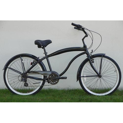 Greenline Bicycles Men's 7 Speed Aluminum Beach Cruiser