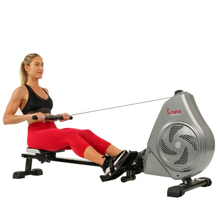 Sunny Health & Fitness Air Magnetic Rowing Machine with Device Holder - SF-RW5728