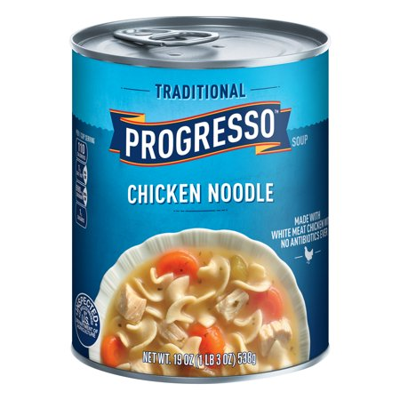 Progresso Chicken Soup ((8 Pack) Progresso Soup, Traditional, Chicken Noodle Soup, 19 oz)