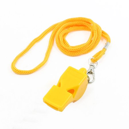Referee Lanyard - Sports Basketball Lobster Closure Lanyard Yellow Referee Whistle