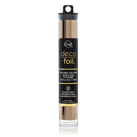 Gold Foil Sheets (Icraft Deco Foil Rose Gold Foil Transfers)