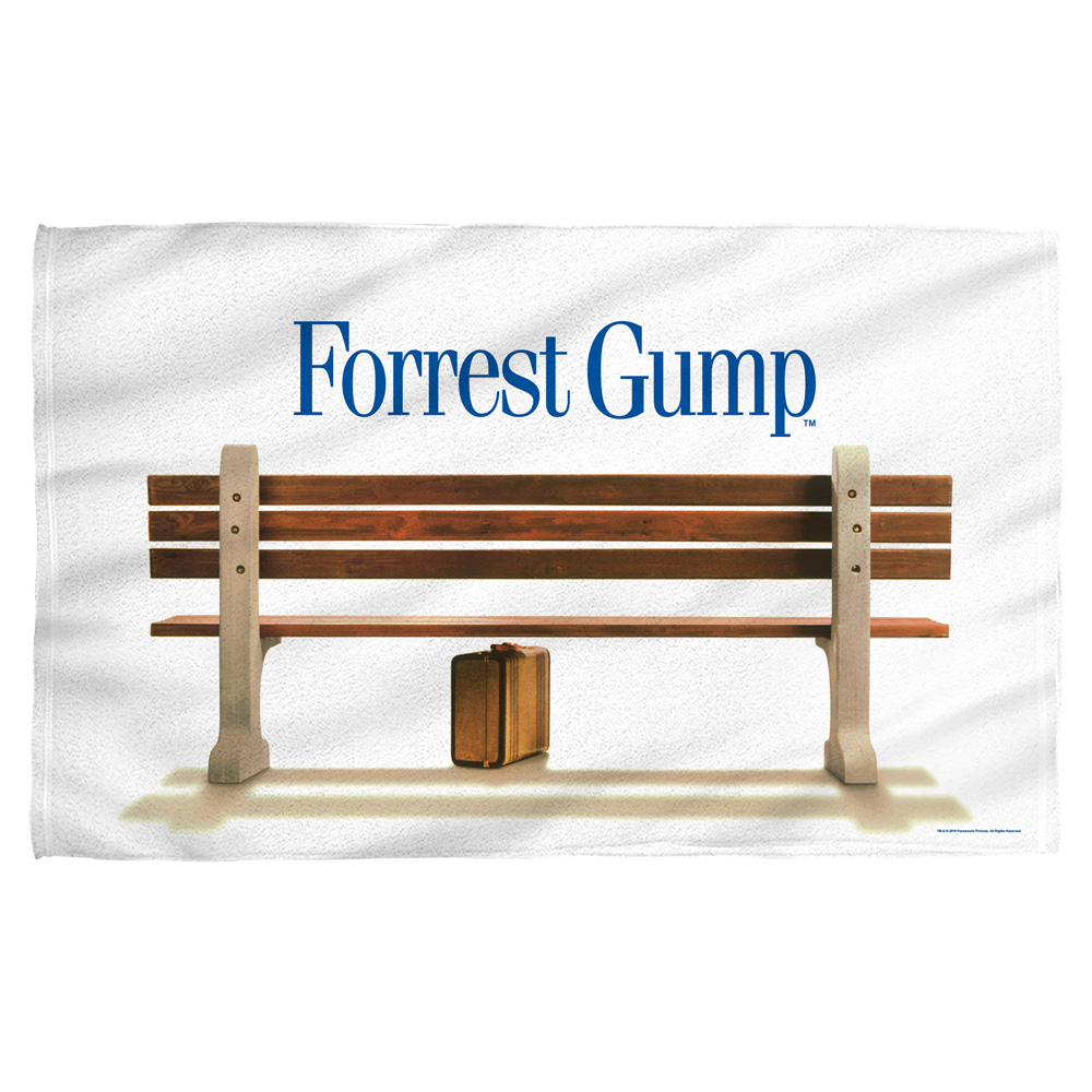 Forrest Gump Bench Beach Towel White 36X58