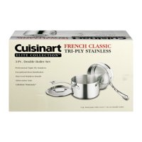 Cuisinart French Classic Tri-Ply Stainless Steel 3-Pc. Double Boiler Set