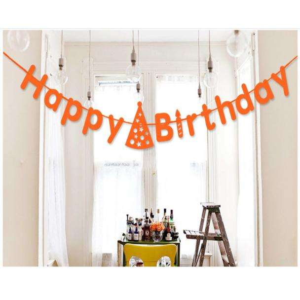 Mosunx Birthday Celebration Letters Garland Party Decoration Banquet Decoration Flag