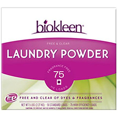 Biokleen Laundry Products Laundry Powder Free & Clear 5 lbs. (75 HE loads)