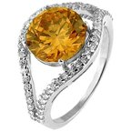 Doma Jewellery SSRZ441CH7 Sterling Silver Ring With CZ, Size 7