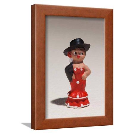 Souvenir miniature figurines of Spanish dancer, Madrid, Spain Framed Print Wall