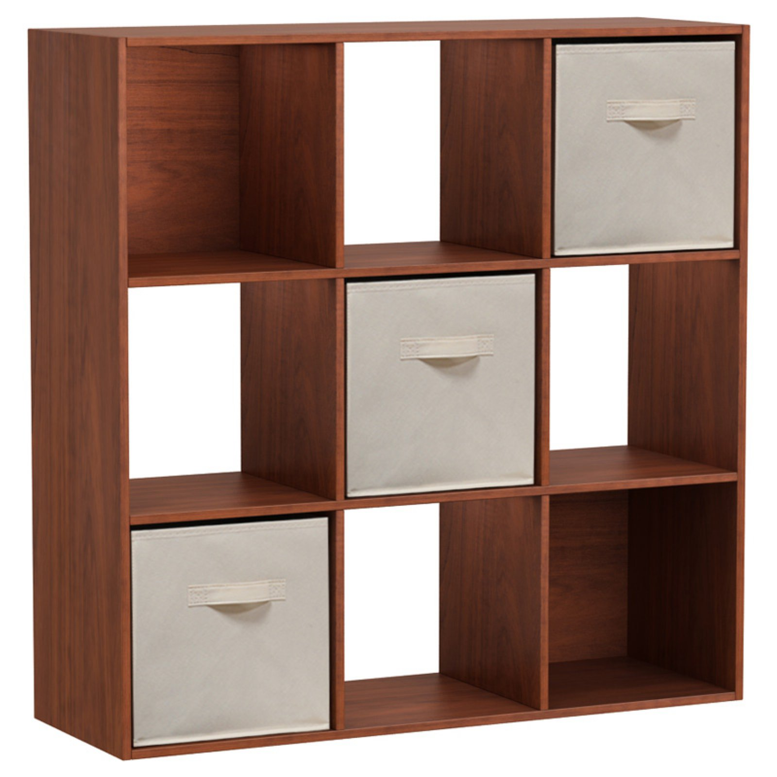 Homestar 9 Cube Bookcase with Fabric Bins