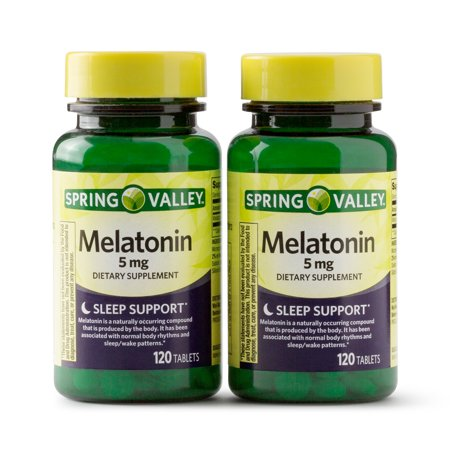 Spring Valley Melatonin Tablets, 5 mg, 120 Ct, 2