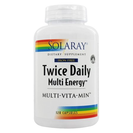Solaray - Twice Daily Multi Energy Multi-Vita-Min Iron-Free - 120 (Best Solaray Multivitamin)