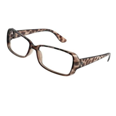 1d440d7546 Leopard Prints Full Rim Rectangle Shaped Brown Spectacles Glasses Eyeglass  Frame - www.lacnl.