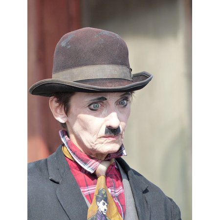 Canvas Print White Costume Circus Sad Copy Charlie Chaplin Stretched Canvas 10 x 14 for $<!---->