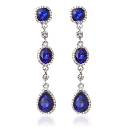 Novadab Duchess Emerald Crystal Lux Chandelier Earrings Multi Crystal Chandelier Earrings