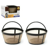 GoldTone Reusable 8-12 Cup Basket Filter fits Black & Decker Coffee Machines and Brewers. Replaces your Black+Decker Reusable Coffee Filter and Permanent Black & Decker Coffee Basket Filter (2 PACK)