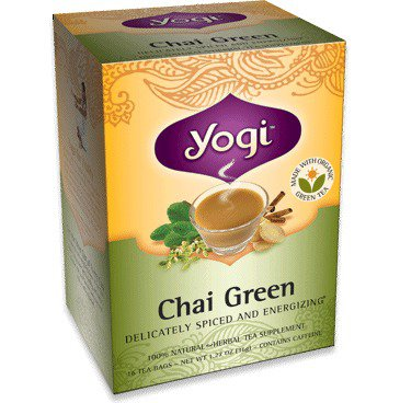 Chai/Green Tea (96% Organic) Yogi Teas 16 Bag