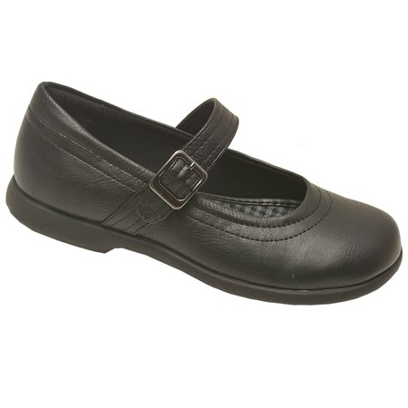 Rachel Shoes Girls Black Buckle Strap Mary Jane Casual Shoes