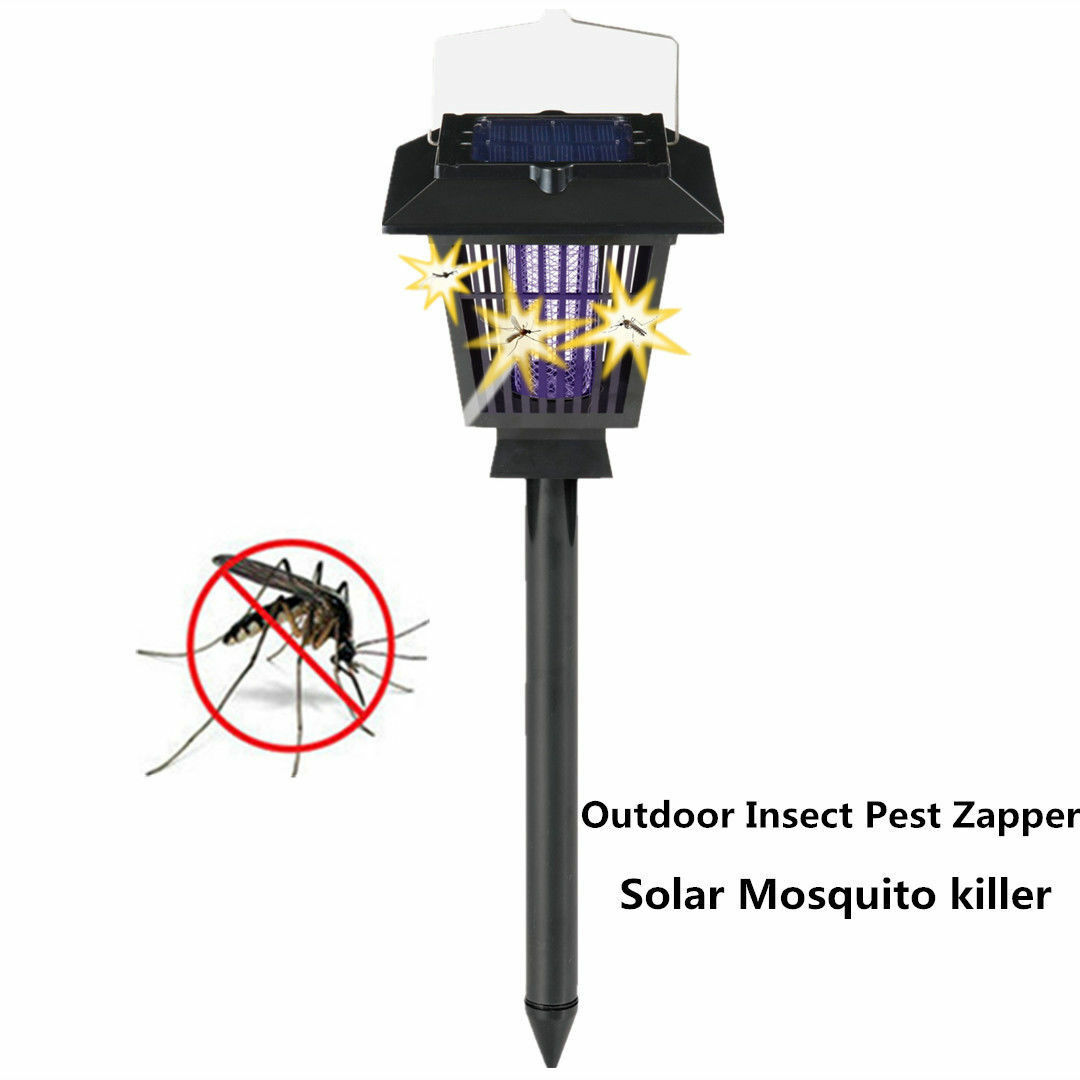 Outdoor Insect Fly Bug Pest Zapper Solar Mosquito Killer