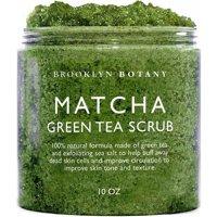 Brooklyn Botany Matcha Green Tea Exfoliating Body Scrub - Body Scrub, Foot Scrub & Facial Scrub Moisturizes and Nourishes Face Feet & Skin - Reduce Inflammation - Soothe & Smooth Feet - 10 oz