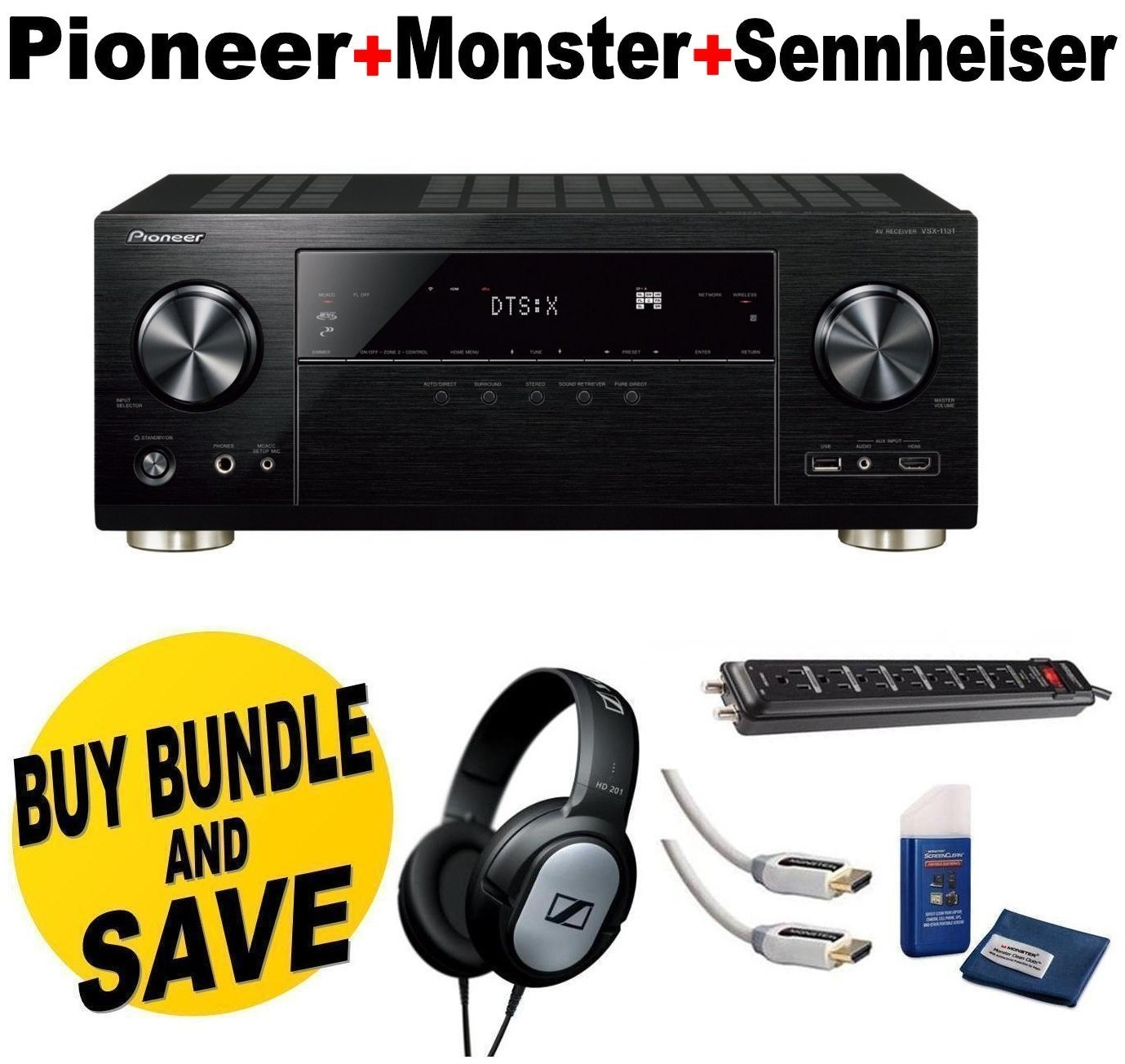 Pioneer VSX-1131 7.2-Channel AV Receiver with MCACC built...