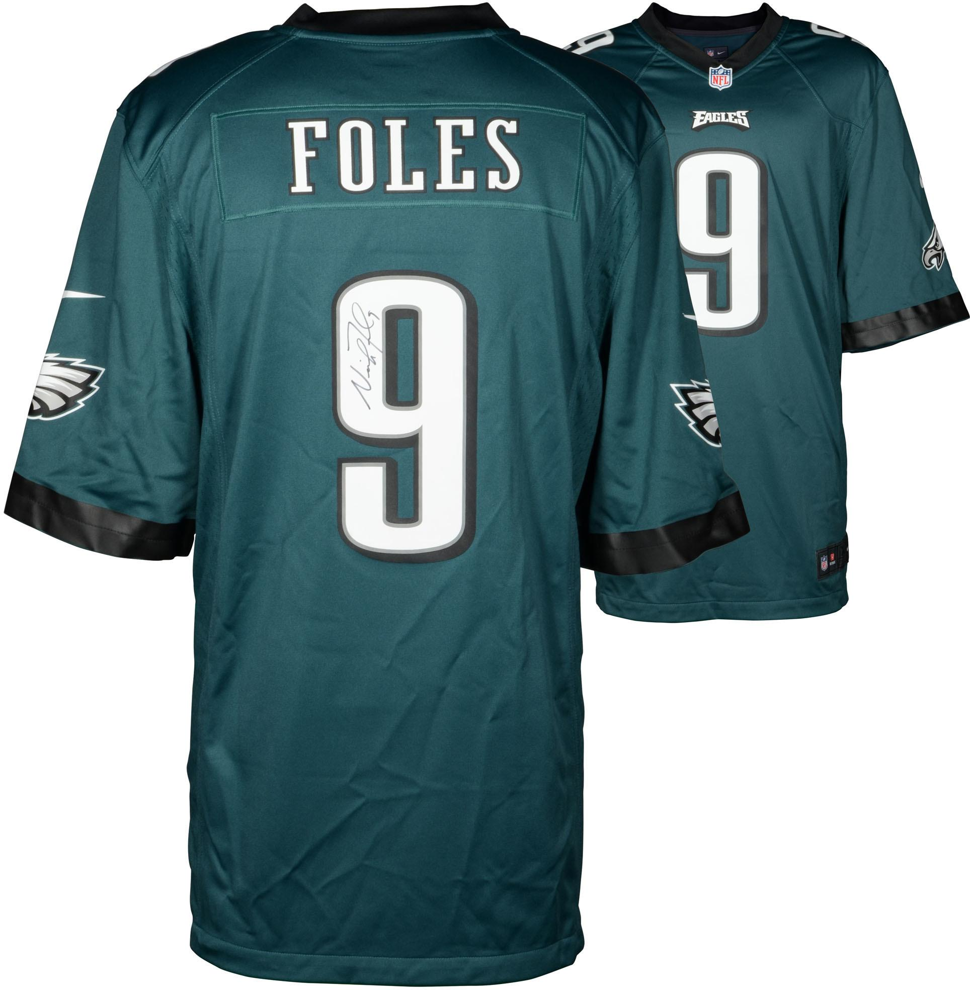 Nick Foles Philadelphia Eagles Autographed Game Green Jersey - Fanatics Authentic Certified