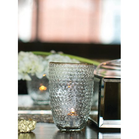 Mady Hobnail Glass Vase Candle Holder Glass 6 38 Inch Walmart