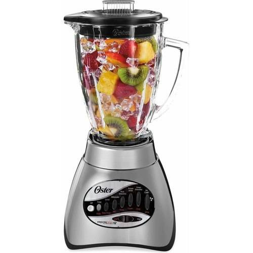 Oster 12-Speed Precise Blend 300 Plus Blender with 3-Cup Food Processor, Gray