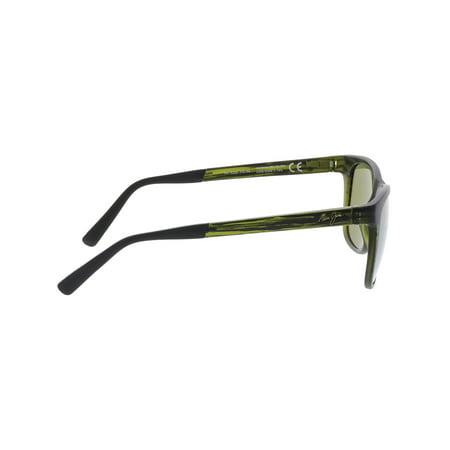 1e899b0641 Maui Jim Polarized Tail Slide HT740-15CM Green Square Sunglasses - image 1  of 3 ...