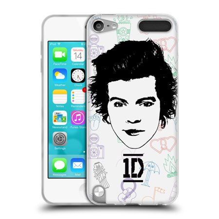OFFICIAL ONE DIRECTION GRAPHIC FACE HARRY SOFT GEL CASE FOR APPLE IPOD TOUCH MP3 ()