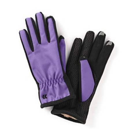 Isotoner Smart Touch 2.0 Womens Purple Matrix Tech Gloves for Texting Ultraplush