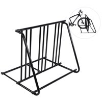 WALFRONT Bike Parking Rack Stand Bicycle Storage Floor Mount Iron Pipe Cycle Holder, Bike Parking Rack, Bicycle parking rack