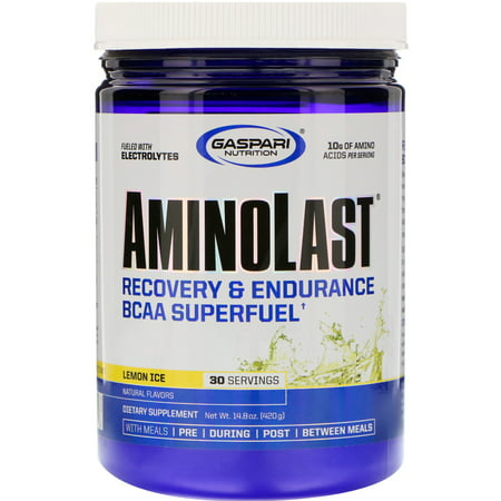 Amino Last Recovery (Gaspari Nutrition AminoLast Powder, Lemon Ice, 30)