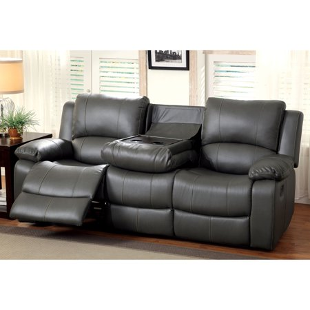 Furniture of america rathbone recliner sofa with cup holders Loveseat with cup holders