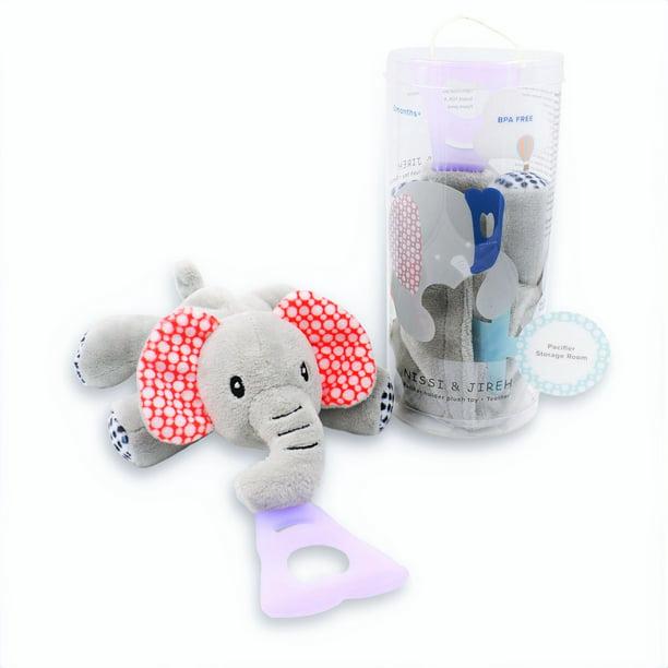 Elephant Binky Crochet Pacifier Holder Baby | Etsy | 612x612